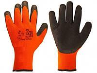 Перчатки рабочие стекольщика полнозалитые утепленные