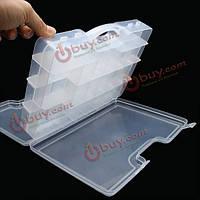 Двусторонняя коробка снасти приманка прозрачный ящик виден рыбалка 29.5 * 20.5 * 6.2 см
