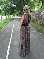 Стильное длинное платье  из армани шелка