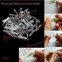 50шт червяк координатно рыболовные приманки шарика стеклянные трещотки вставки трясти трубка трещотки