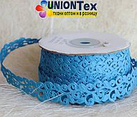 Кружево лента голубая бирюза