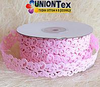 Кружево лента розовая
