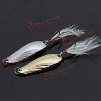 10шт рыболовные приманки блестка приманкой блестки рыболовную приманку скрипичный перо крючок