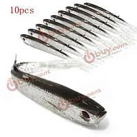 10шт мягкий силиконовый рыболовную приманку 9.5см рыболовные приманки колюшка рыболовную приманку Приманка