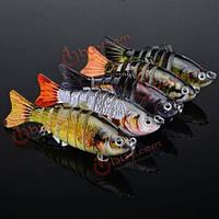Proberos 5шт 10см сегменты 15.5г рыболовные приманки нескольких соединенных жесткий приманку крючками