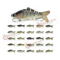 10см рыбалка приманки приманки рыбы 6 разделов жесткого swimbait