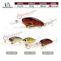 Maxcatch гольян рыболовные приманки 6см 12.3g искусственные приманки трудно рыболовные приманки