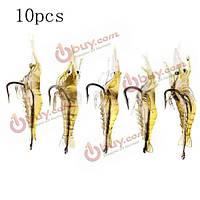 10шт 4см креветки мягкие приманки рыбалка приманка рыболовные приманки креветки