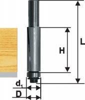 Фреза кромочная прямая ф12.7х25, хв.8мм, по ДСП (арт.28053)