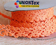 Кружево лента оранжевая