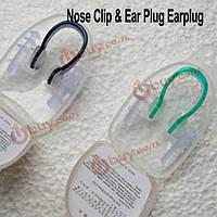Водонепроницаемый силиконовая для плавания зажим для носа + беруши плавать