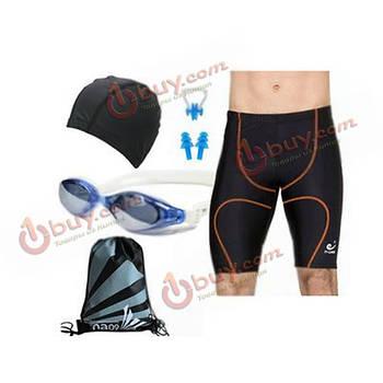 Набор для плавания: шорты, шапочка, зажим, очки мужские