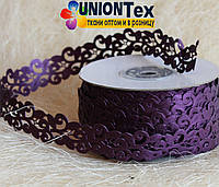 Кружево лента фиолетовая