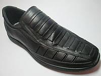 Мужские сандали кожаные черные р 40,41,42