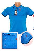 Мужская футболка поло фигурки голубая
