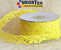 Кружево лента желтая (лимонная)
