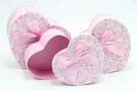 Милая подарочная коробочка  - сердце. 3 размера