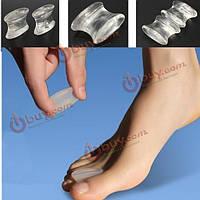 2шт мягкий силиконовый гель toe сепараторы выпрямитель бурсит большого пальца стопы протектор