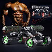 Спортивный фитнес четыре колеса сила ролика живота тренажер колеса оборудование тренировки мышечной силы