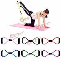 Спорт сопротивление группа фитнес-йога ремень рука стрейч эластичный канат трубка 8 форма обучения потянув шнур