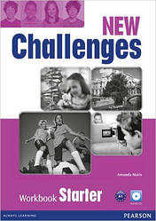 New Challenges Starter Workbook & Audio CD Pack (рабочая тетрадь/зошит)