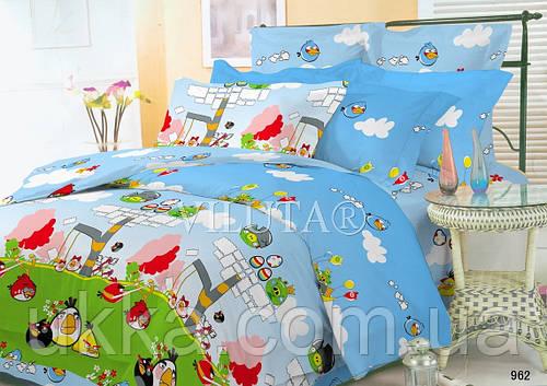 Детское постельное белье комплект подростковый Енгри Бердс