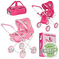 Коляска для кукол детская демисезонная с люлькой Hello Kitty HK 00025