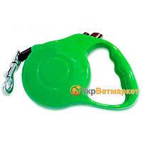 Поводок-рулетка для выгула собак зеленый 11-2, 5 м