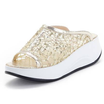 Женские сандалии блестящие , фото 2