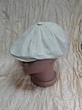 Кепка лён детская восмиклинка молочного цвета 48 50, фото 3