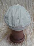 Кепка лён детская восмиклинка молочного цвета 48 50, фото 4