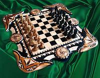 """Шахматы нарды """" Скорпион """" , резьба по дереву"""