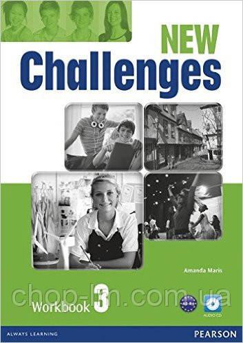 New Challenges 3 Workbook & Audio CD Pack (рабочая тетрадь/зошит)