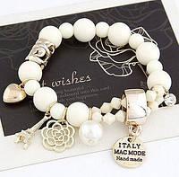 """Женский браслет в стиле Chanel """"Белый"""" , фото 1"""