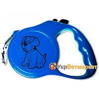 Поводок-рулетка для выгула собак с рисунком 11-6, 5 м