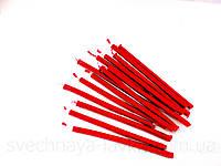 Свечи красные восковые 0,5см х 10см