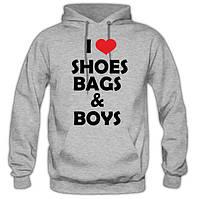 """Кофта """"I love shoes bags boys"""". Толстовка """"Я люблю хлопців"""""""