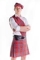Мужской шотландский национальный карнавальный костюм / BL - ВМ83