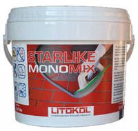 Litokol Starlike Monomix - однокомпонентная затирка для швов шириной от 1 до 15 мм.