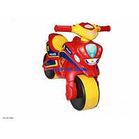 Каталка толокар детский Мотоцикл полиция пластмассовый двухколесный Орион 0139/560