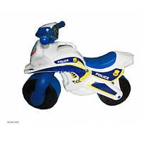 Каталка толокар детский Мотоцикл полиция пластмассовый двухколесный Орион 0139/510