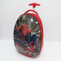 Чемодан детский дорожный пластиковый на колесах Человек паук 1919