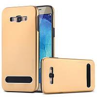 Металлический чехол Motomo Unimprovable для Samsung Galaxy A5 A500H Gold