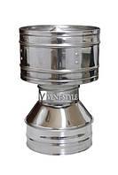 Дефлектор  двухконтурный 100/180 для системы дымоходов