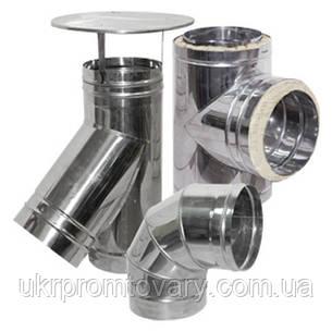 Дефлектор  двухконтурный 140/220 для системы дымоходов  нержавеющая сталь + оцинкованная сталь зеленая, фото 2