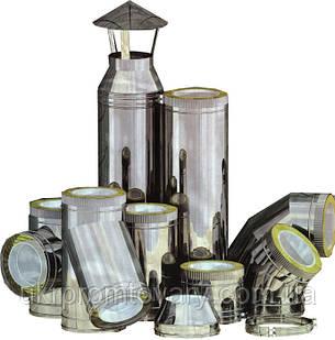 Дефлектор  двухконтурный 280/350 для системы дымоходов  нержавеющая сталь + оцинкованная сталь зеленая, фото 2