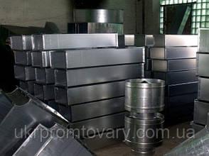 Отвод (угол/колено) сэндвич 90 300/380 нержавеющая сталь + оцинкованная сталь цветная, фото 3
