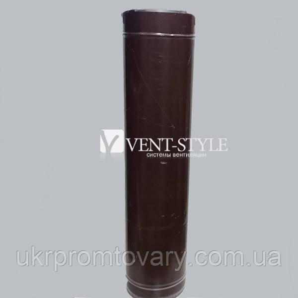 Сэндвич труба 130/220  L-1000 нержавеющая сталь + оцинкованная сталь цветная