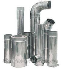 Сэндвич трубы сварной шов  140/220 L-500, внутренний контур - нержавейка 1мм, наружный - нержавейка глянец, фото 2