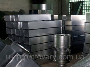 Тройники сэндвич 130/200 нержавеющая сталь сварная 1мм + нержавеющая сталь  глянец 0,5мм, фото 3